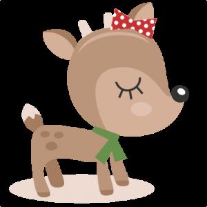 Reindeer SVG cutting files christmas svg cut files winter svgs for scrapbooking cute reindeer clipar
