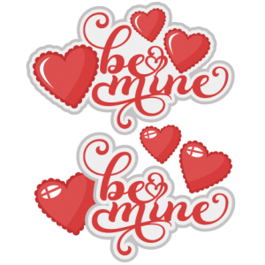 Be Mine SVG scrapbook title valentines svg cut files for scrapbooking