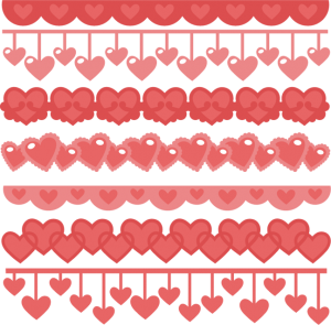 Heart Borders SVG cutting files heart svg cuts free svg files free svg borders heart border clipart