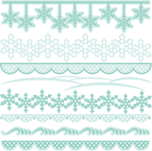 Winter Borders SVG cutting files winter svg cuts winter border clipart winter free svg cuts