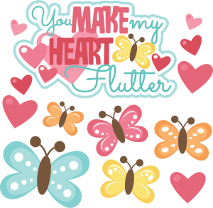 You Make My Heart Flutter SVG scrapbook file valentines day svg scrapbook title free svg cuts