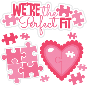 We're The Perfect Fit SVG cutting files valentines day svg cut files free svgs free svg cuts