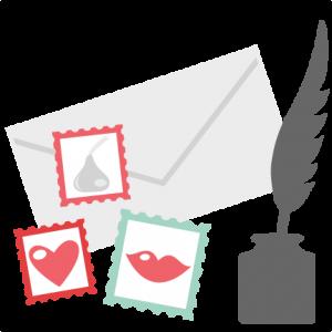 Love Letter Set SVG cutting files love letter svg cuts valentine svg cut files for scrapbooking