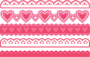 Valentine Borders SVG bundle for scrapbooking cardmaking valentines svg files free svgs cute svg cuts