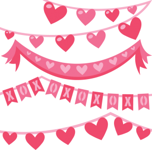 Valentine Banners SVG cut files valentine bannerst svg cuts free svg files free svg cuts