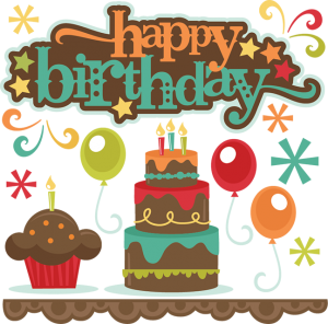 Happy Birthday SVG cutting files cake svg cut file cupcake svg cut file balloons svgs for cricut