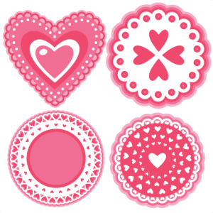 Valentine Layered Doilies SVG cutting files doily svg cut file free svg cut files free svgs valentine svg cuts