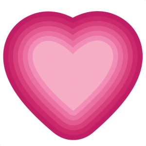 Nested Heart SVG cutting file valentine svg cut files for scrapbooking free svg cuts