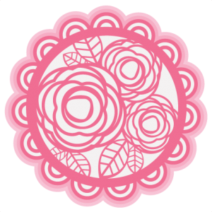 Layered Rose Doily SVG cutting file for scrapbooking free svg cuts free svgs valentine svg files