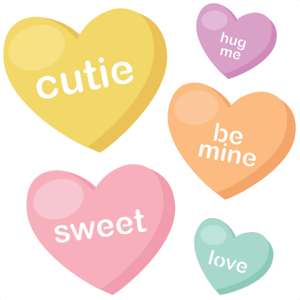 Candy Hearts SVG cutting files valentine svg files ...