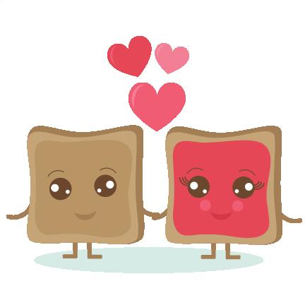 PB & J Love SVG cut out files valentine svg cut files ...