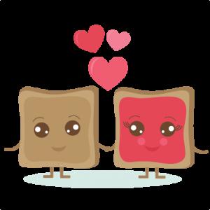 PB & J Love SVG cut out files valentine svg cut files valentine svg cuts cute clipart