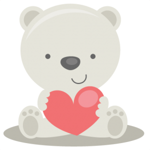Valentine Polar Bear SVG file for scrapbooking cardmaking valentines svg files free svgs cute svg cuts