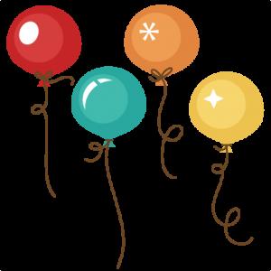 Birthday Balloons SVG cut files for scrapbooking birthday svg files ...
