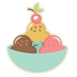 Bowl Of Ice Cream SVG cut file ice cream svg cutting file free svgs cute clipart