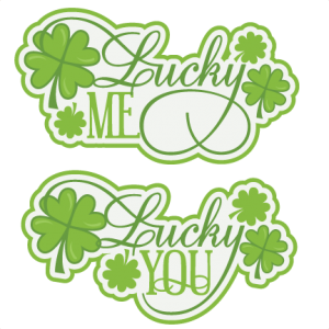 Lucky Titles SVG cutting files for scrapbooking st. patrick's day svg scrapbook title