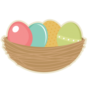 Easter Eggs In Nest  SVG cutting files easter egg svg cut file easter eggs cut files for scrapbooks