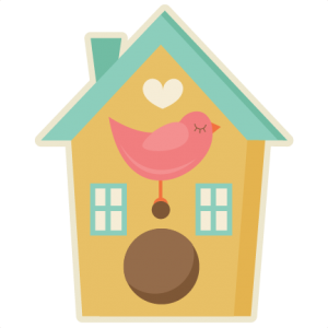 Birdhouse With Bird SVG cutting files for scrapbooking bird svg cut file