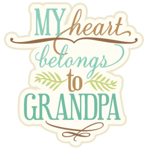 My Heart Belongs To Grandpa SVG cutting file phrase svg cut files