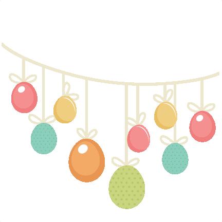 Easter Egg Banner SVG cutting files easter egg svg cut ...