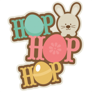 Hop Hop Hop Title SVG cutting files for scrapbooking easter svg scrapbook title