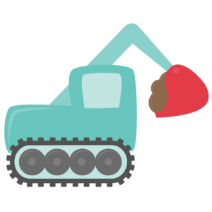 Exavator SVG cutting file excavator svg cuts boy toys svg cut files