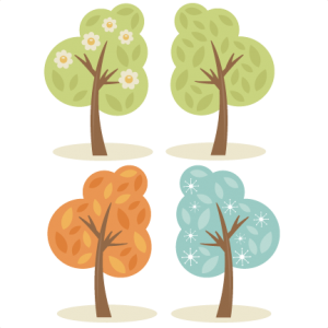 4 Season Trees SVG cutting files spring tree svg summer tree svg fall tree svg winter tree svg cut files