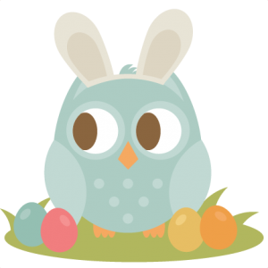 Easter Owl SVG cutting file easter svg scrapbook title easter svg cut file