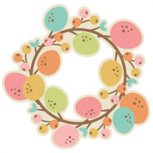 Easter Wreath SVG cutting file easter svg scrapbook title easter svg cut file