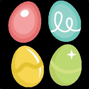 Easter Eggs SVG cutting file easter svg scrapbook title easter svg cut file