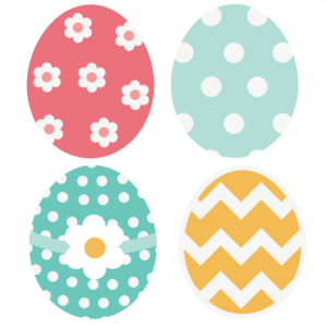 Cutesy Easter Egg Set SVG cutting files easter svg cut easter egg svg cut files