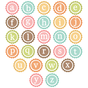 Scallop Circle Lowercase Monogram SVG cut files for scrapbooking free svg files free svg cuts free svg cut files