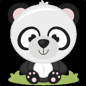 Baby Panda SVG cutting files panda bear svg cut file baby panda svg file for scrapbooking