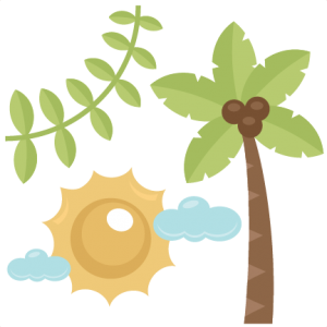Zoo Set SVG cutting files for scrapbooking zoo svg cut file palm tree svg cut clouds svg cut vine svg cut sun svg file