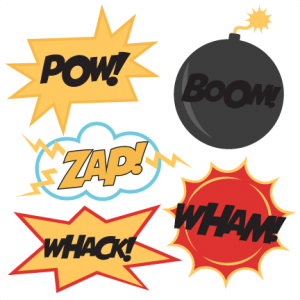 Superhero Titles SVG cutting files superhero svg cut file for scrapbooking superhero svg cut file