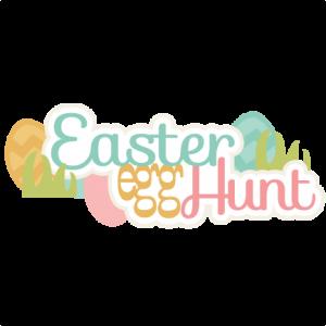 Easter Egg Hunt Title SVG cutting files easter egg svg cut file easter eggs cut files for scrapbooks