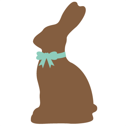 Chocolate Easter Bunny SVG cutting file for scrapbooking ...