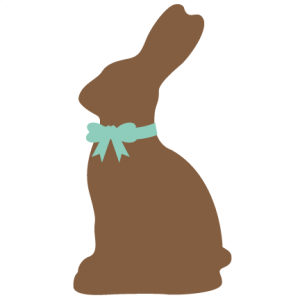 Chocolate Easter Bunny SVG cutting file for scrapbooking easter svg cut files easter svg files