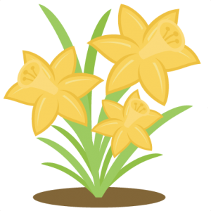 Daffodils SVG cutting file spring svg cut files daffodils svg files free svg cuts