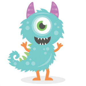 Monster With Tail SVG cutting file monster svg cut files for scrapbooking scal files scut files mtc files