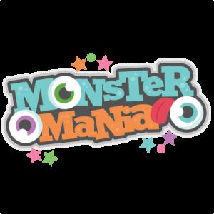 Monster Mania Scrapbook title SVG cutting file monster svg cut files for scrapbooking scal files scut files mtc files