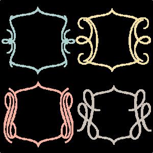 Frames SVG cutting files for scrapbooking frames clip art svg cut files
