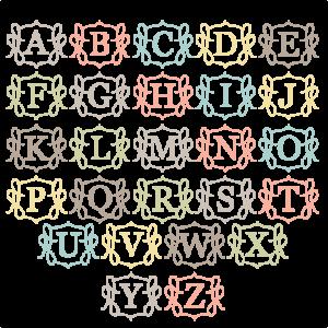 Monogram SVG cut files for scrapbooking free svg files free svg cuts free svg cut files