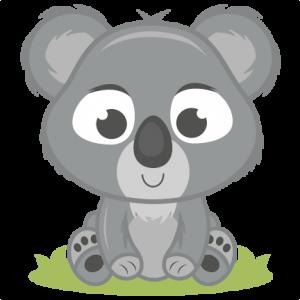 Baby Koala SVG cutting file baby svg cut file free svgs free svg cuts koala svg cut file