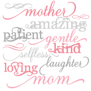 Mother Word Set SVG cut files mother svg cut files for scrapbooking mother words set svg cut files