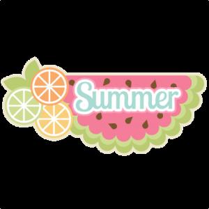 Summer  SVG scrapbook title summer svg cut files summer svg scrapbooking title scal files