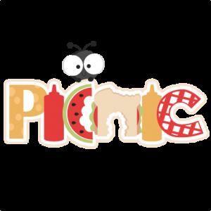 Picnic Scrapbook  Title SVG cutting file ant svg cut file summer svg cuts summer scal files for cricut free cut files