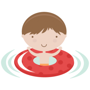 Boy In Pool Tube SVG cutting files pool svg cut files swimming svg files summer svg cut files for cricut
