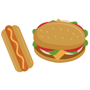 Hamburger and Hot Dog svg cutting file for cricut cut files summer svg cut files cute svgs