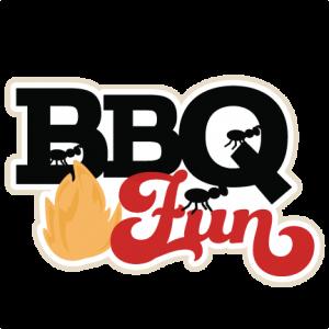 BBQ Fun scrapbook title SVG cutting files summer svg cut files grill svg files ketchup mustard cut files free cuts for cricut
